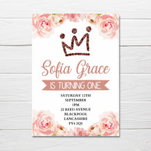 Floral Invitations | A6 Invites | Girly Invitations | Party Invitations