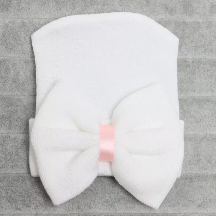 Newborn Baby Girls Bow Hats