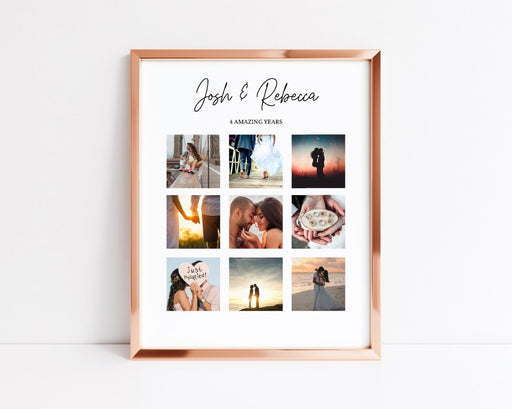 Anniversary Print | Personalised Years Together Print | Anniversary Gift