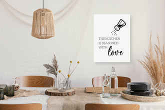 Kitchen Print | This Kitchen Is Seasoned With Love | Quote Print
