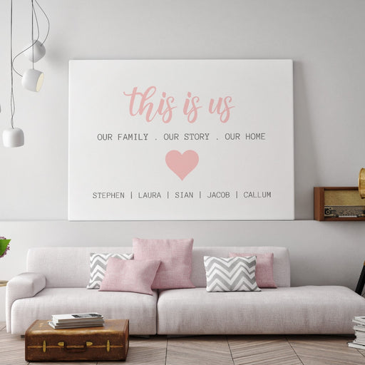 Quote Print | This Is Us | Personalised Print | Family Print