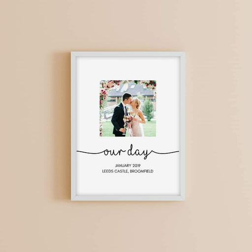 Wedding Print | Our Wedding Day | Personalised Print | Wedding Gift