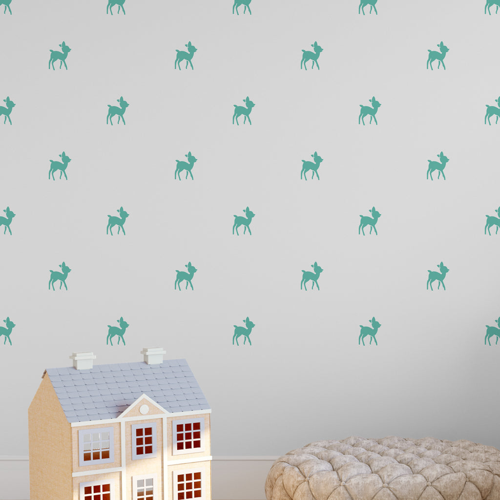 Baby Reindeer Wall Pattern Decal - Set of 32
