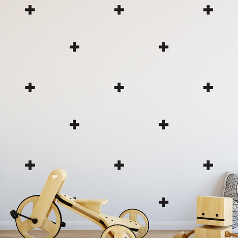 Cross Pattern Wall Pattern Decal - Set of 32