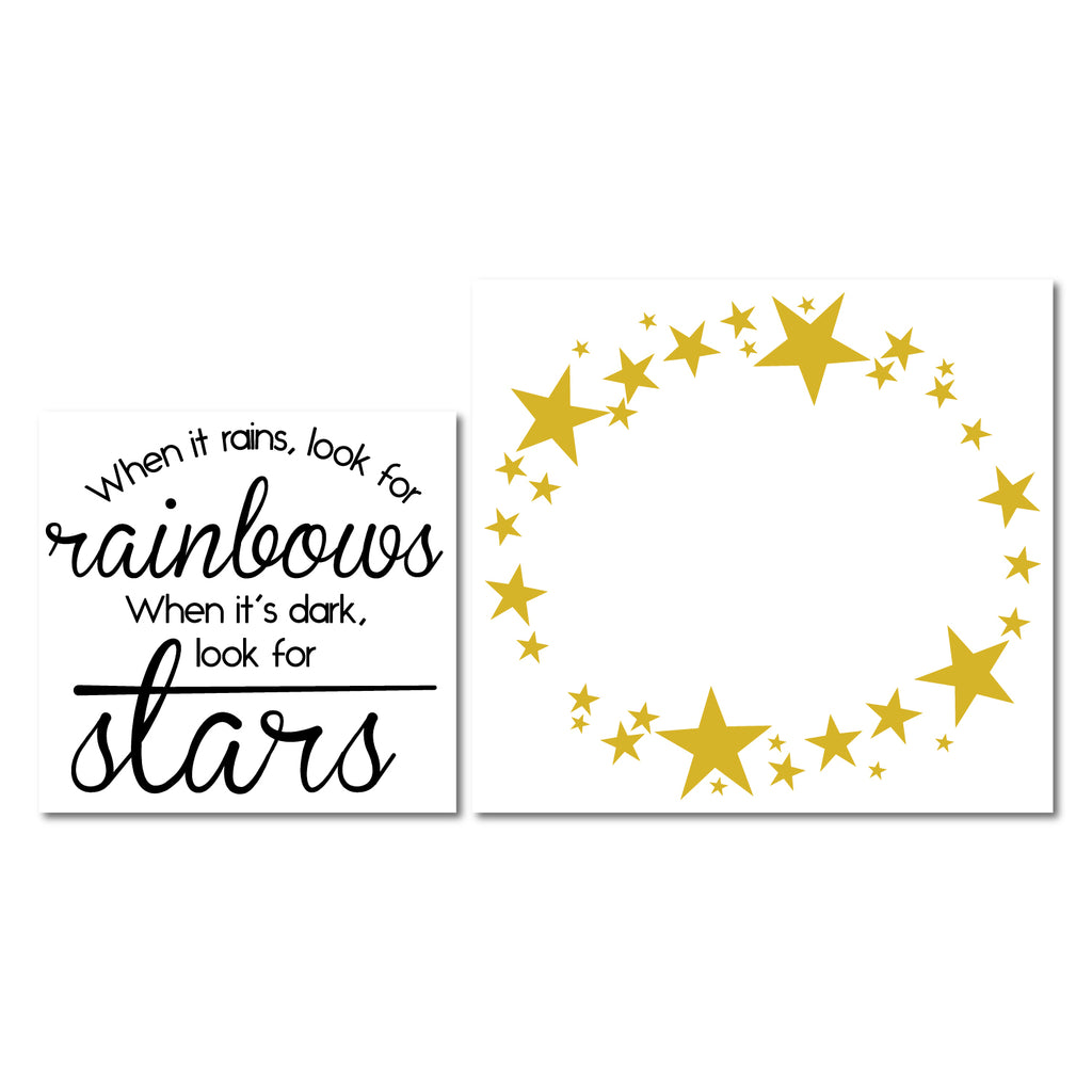 When It Rains Look For Rainbows Wall Sticker