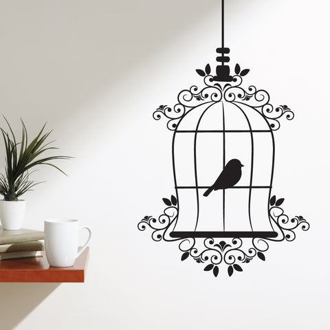Birds Cage Classic Wall Sticker