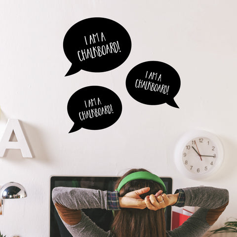 Speech Bubble Set Chalkboard Wall Sticker