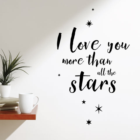 I Love You More Than All The Stars Wall Sticker