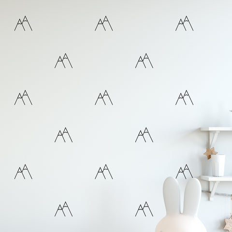 Mountain Wall Pattern Decal - Set of 24