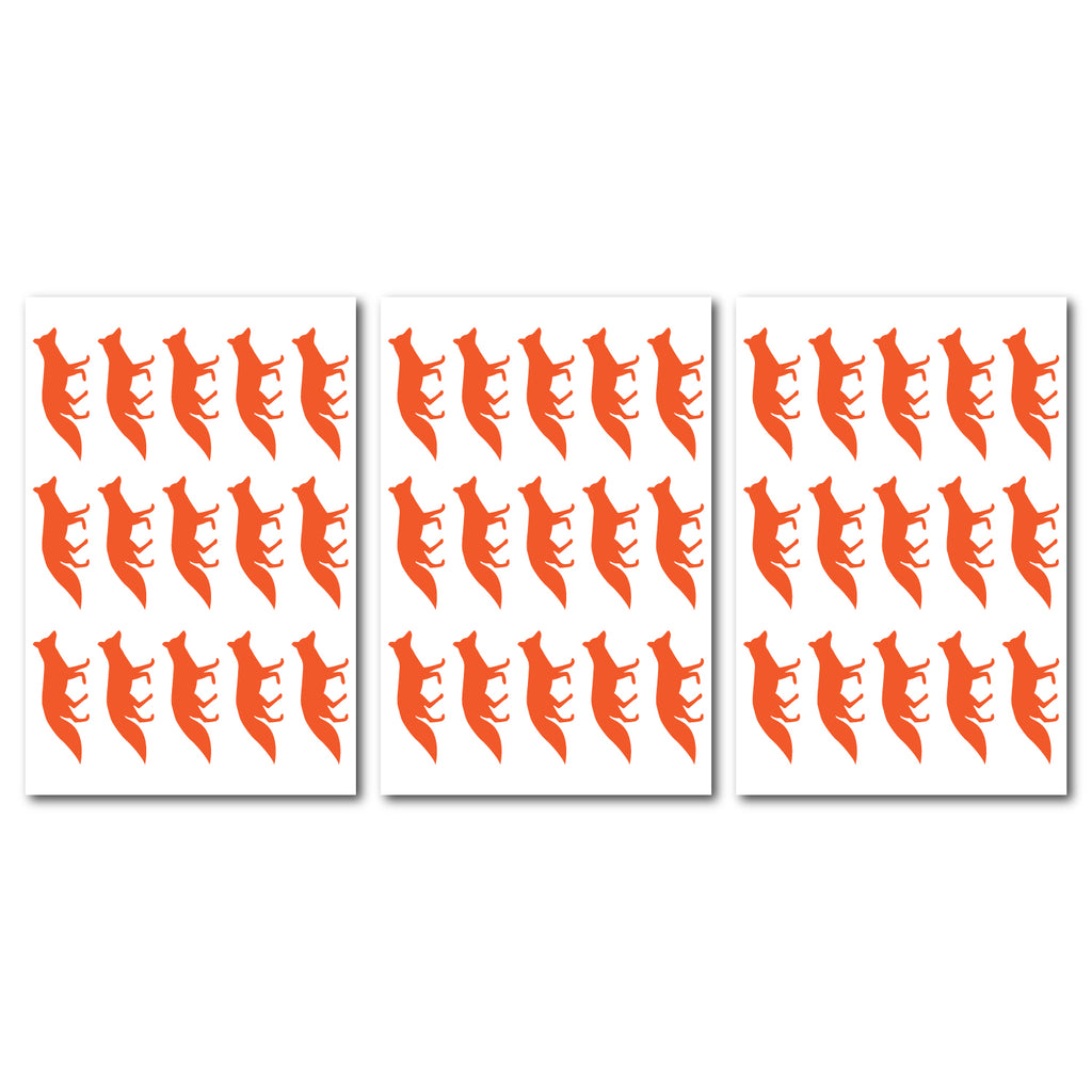 Foxes Wall Pattern Decal - Set of 45