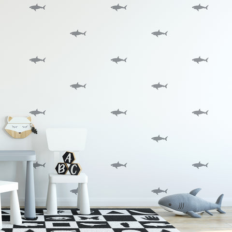 Shark Wall Pattern Decal - Set of 36