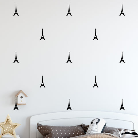 Eiffel Tower Wall Pattern Decal - Set of 30