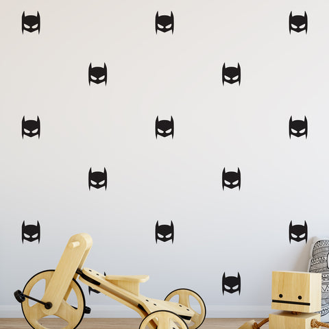 Superhero Mask Wall Pattern Decal - Set of 25