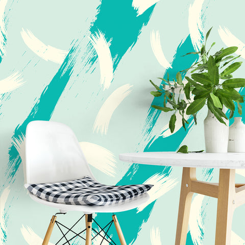Tropical Brush Strokes Wallpaper Sample