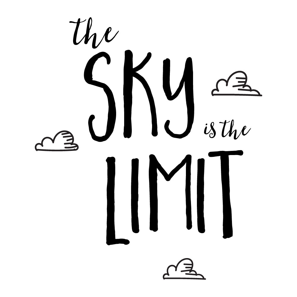 The Sky Is The Limit Wall Sticker