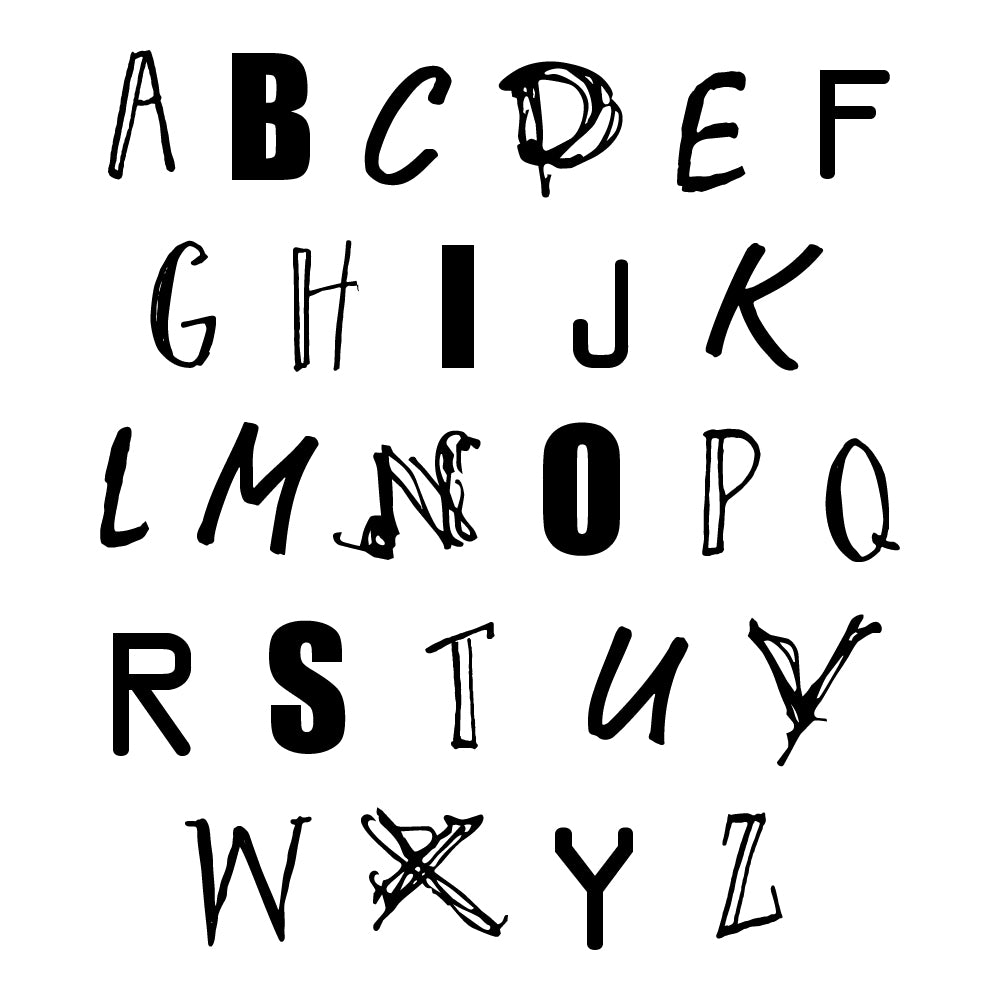 Alphabet Quote Wall Sticker