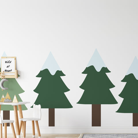 Pine Trees Set Wall Sticker