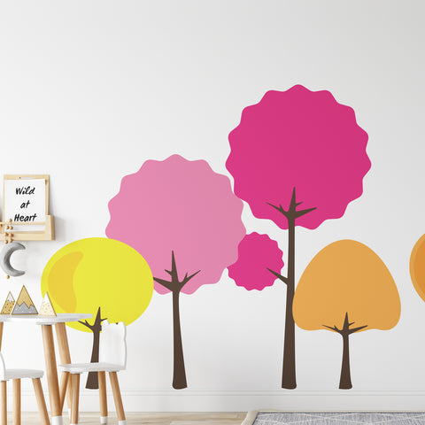 Bright Trees Set Wall Sticker