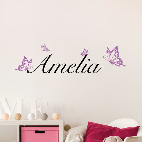 Butterfly Custom Kids Wall Sticker