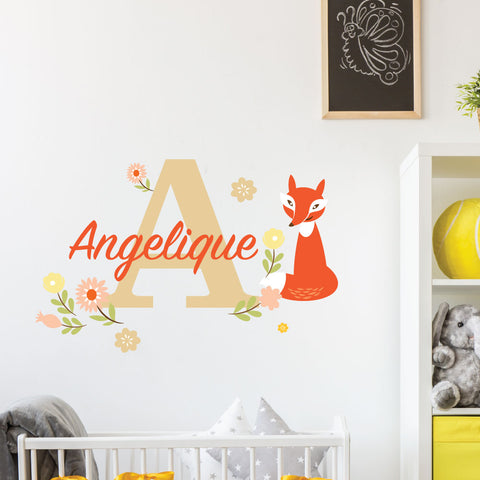 Curious Fox Custom Kids Wall Sticker