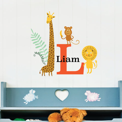 Jungle Custom Kids Wall Sticker