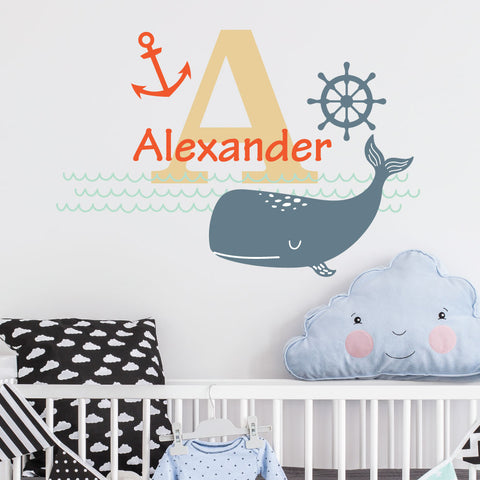 Nautical Custom Kids Wall Sticker