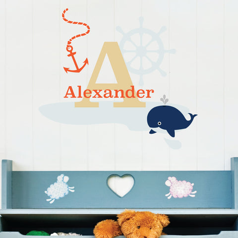 Nautical Theme 2 Custom Kids Wall Sticker