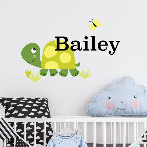 Turtle Custom Kids Wall Sticker