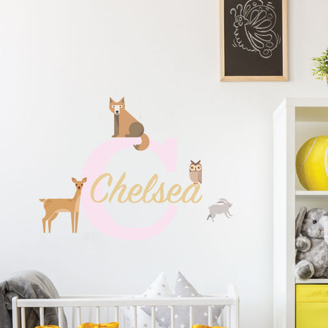 Woodland Creatures Custom Kids Wall Sticker
