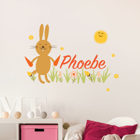 Bunny Custom Kids Wall Sticker