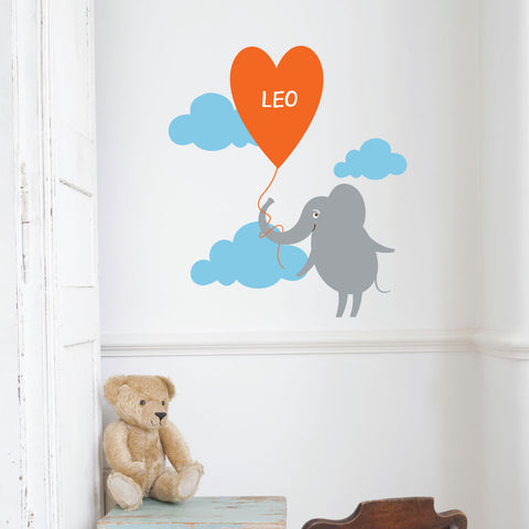 Flying Elephant Custom Kids Wall Sticker