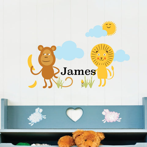 Safari Scene Custom Kids Wall Sticker