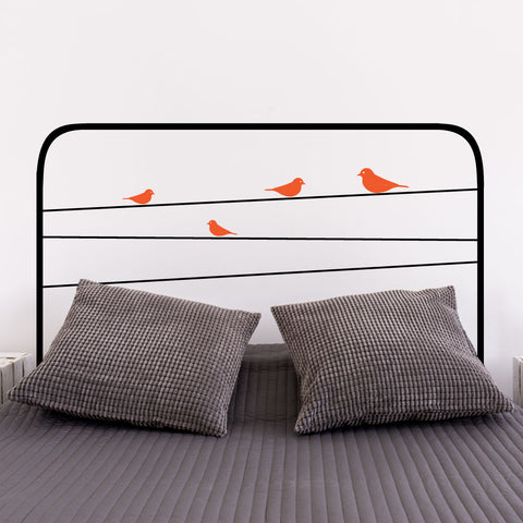 Birdy Headboard Wall Sticker