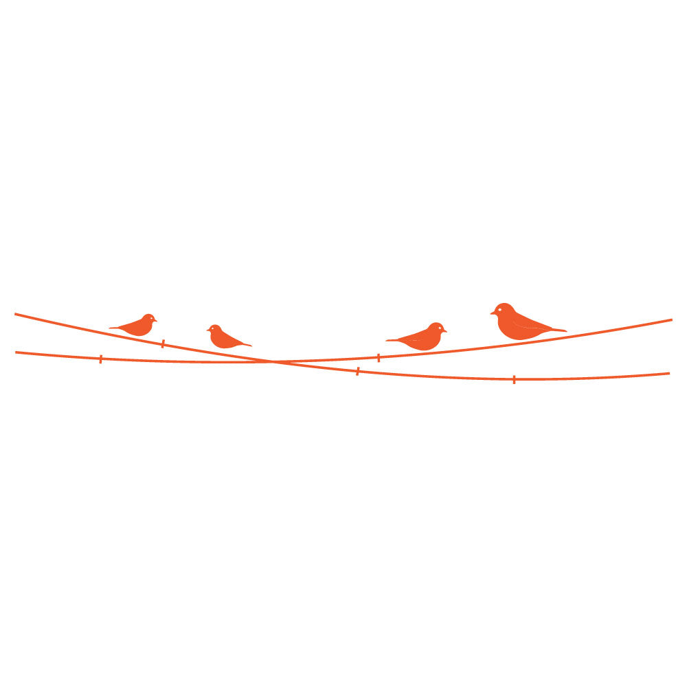 Birds And Power Lines Headboard Wall Sticker