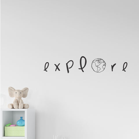 Explore Globe Wall Sticker
