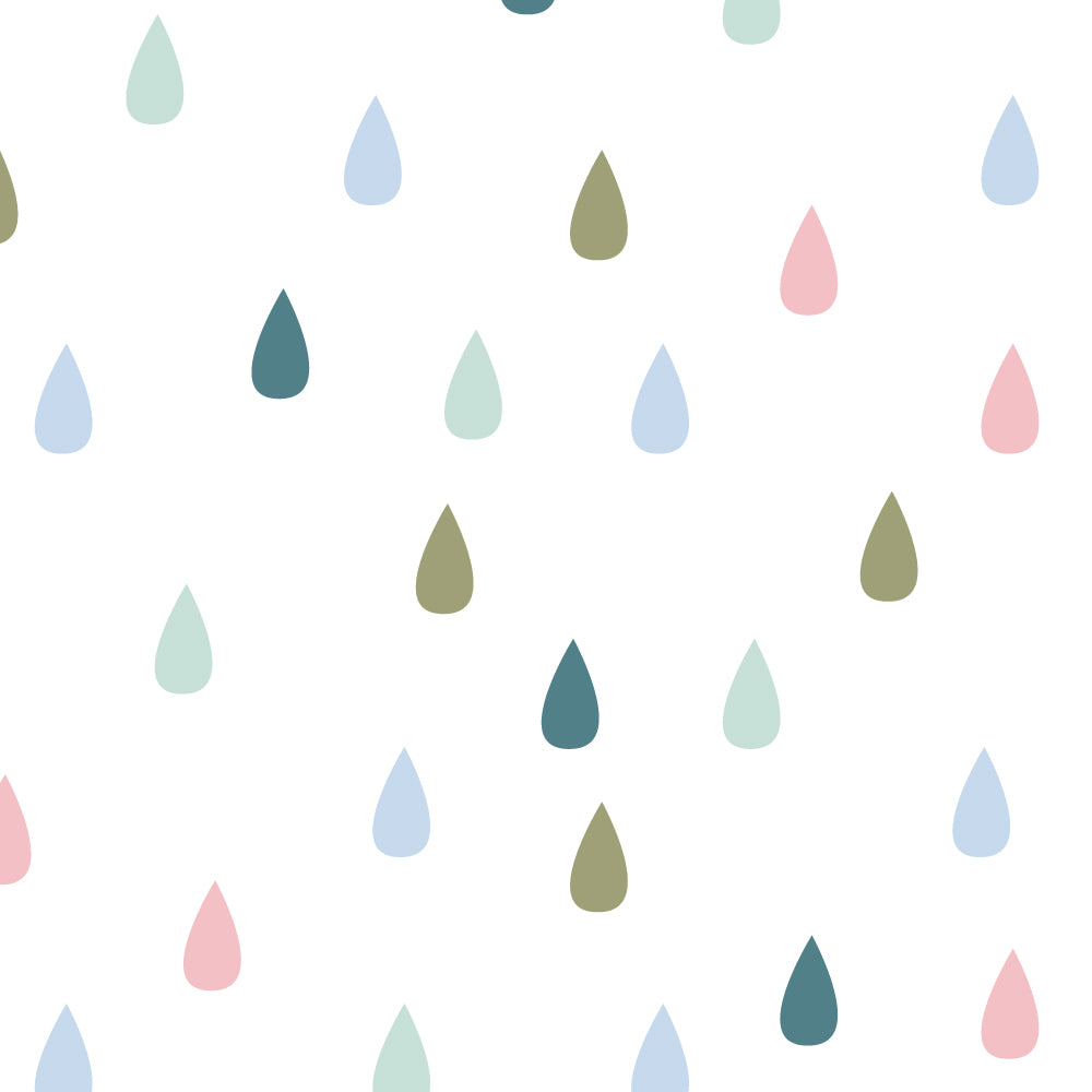Pastel Raindrops Wallpaper