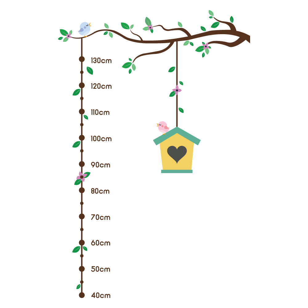 Birdhouse Height Chart Wall Sticker