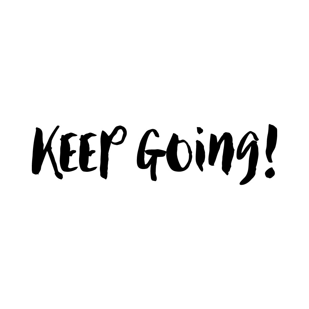 Keep Going Laptop Sticker