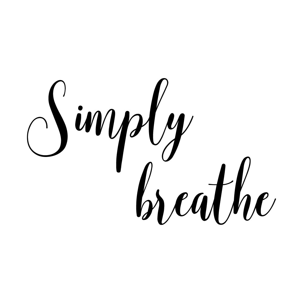 Simply Breathe Motto Sticker