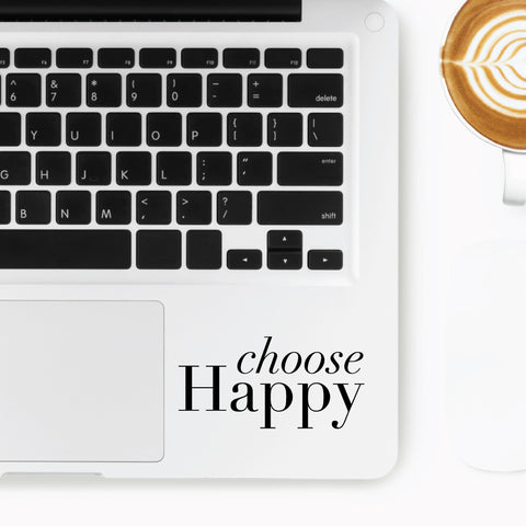 Choose Happy Motto Sticker
