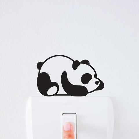 Lazy Panda Light Switch Decal Sticker