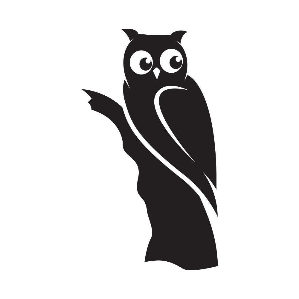 Owl Hideout Light Switch Decal Sticker