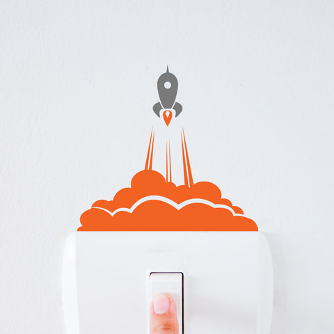 Rocket Launch Light Switch Decal Sticker