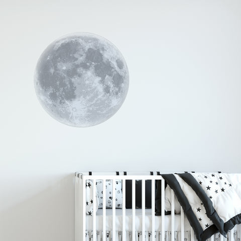 Moon Dot Print Wall Sticker