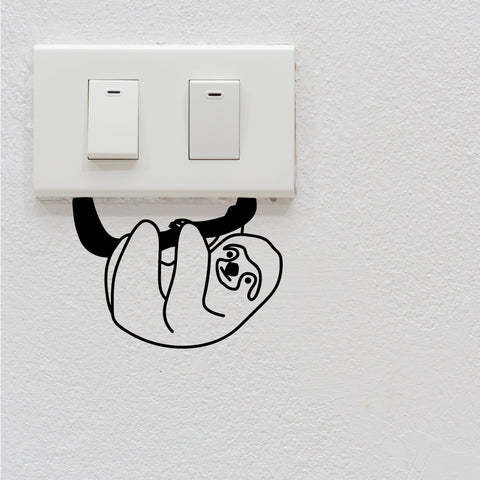 Hanging Sloth Light Switch Decal Sticker