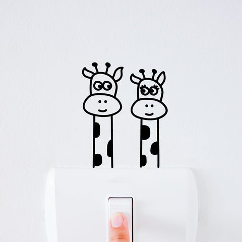 Giraffe Light Switch Decal Sticker