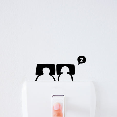 Sleepy Heads Light Switch Decal Sticker