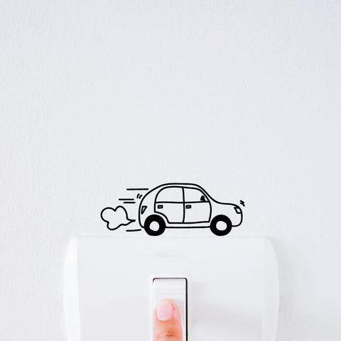 Car Light Switch Decal Sticker