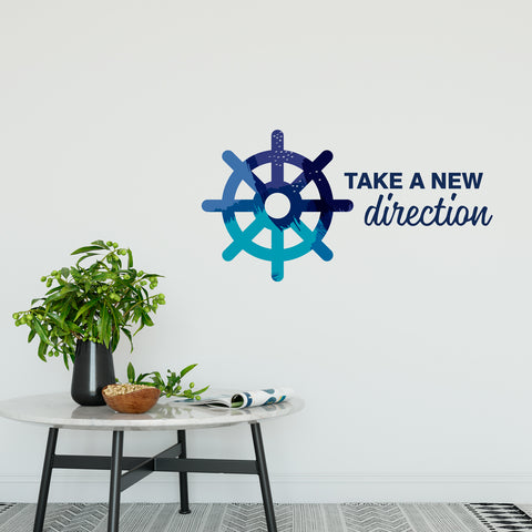 Take A New Direction Wall Sticker