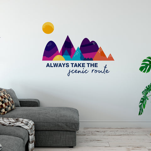 Always Take The Scenic Route Wall Sticker